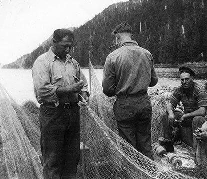 fisherman-working-on-nets