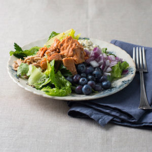 Wild Salmon Salad with Blueberries